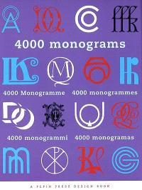 4.000 monogrammes = 4.000 monograms = 4.000 monogrammi