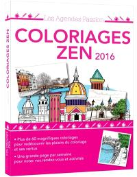 Agenda coloriages zen 2016