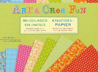 Art et crea fun : bricolages en papier : 32 feuilles aux jolis motifs pour toutes vos idées créatives = Knutsel-papier : 32 vellen met leuke motiefjes voor al je creatieve ideeën