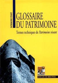 Glossaire du patrimoine