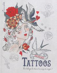 Tattoos : coloriage : grand format
