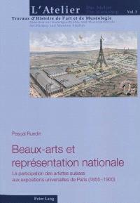 Beaux-arts et représentation nationale : la participation des artistes suisses aux expositions universelle de Paris (1885-1900)