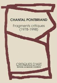 Fragments critiques, 1978-1998