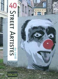 40 Street artistes au carré : livre interactif