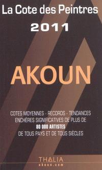 La cote des peintres 2011 : cotes moyennes, records, tendances, enchères significatives de plus de 80.000 artistes de tous pays et de tous siècles