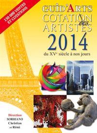 Guid'arts, cotation des artistes 2014 : du XVe siècle à nos jours
