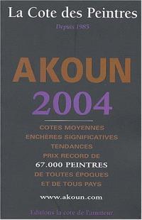 La cote des peintres 2004 : cotes moyennes, enchères significatives, tendances, prix record de 65.000 peintres de toutes époques et de tous pays