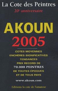 La cote des peintres 2005