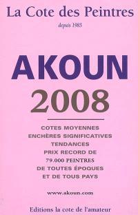 La cote des peintres 2008 : cotes moyennes, enchères significatives, tendances, prix record de 79.000 peintres de toutes époques et de tous pays