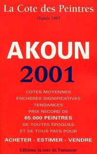 La cote des peintres, 2001