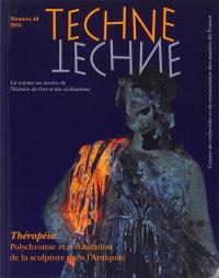 Techné. n° 40, Thérapéia : polychromie et restauration de la sculpture dans l'Antiquité