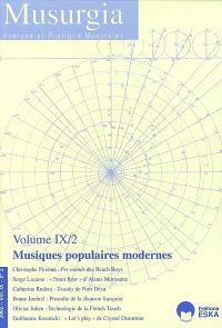 Musurgia. n° 2 (2002), Musiques populaires modernes