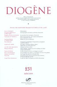 Diogène. n° 231, Pour une histoire transculturelle de l'art