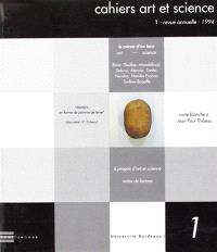 Cahiers art et science. n° 1, La lumière d'en face (art-science)