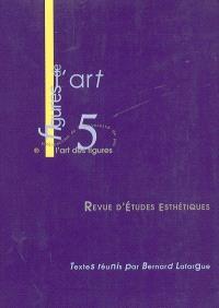 Figures de l'art. n° 5, L'art des figures