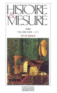 Histoire & mesure. n° 23-2, Art et mesure