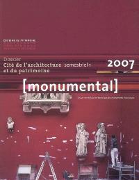 Monumental. n° 1 (2007), Cité de l'architecture et du patrimoine