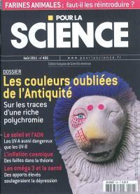 Pour la science. n° 406, Les couleurs oubliées de l'Antiquité : sur les traces d'une riche polychromie