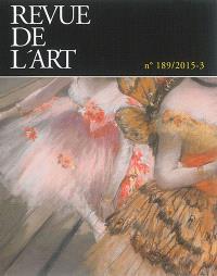 Revue de l'art. n° 189