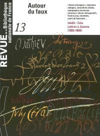 Revue de la Bibliothèque nationale de France. n° 13, Autour du faux