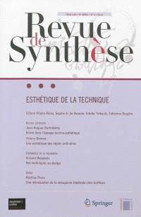 Revue de synthèse. n° 133-4, Esthétique de la technique