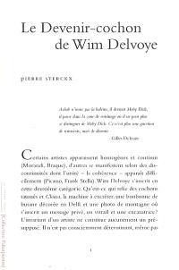 Le devenir cochon de Wim Delvoye