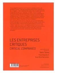 Les entreprises critiques : la critique artiste à l'ère de l'économie globalisée = Critical companies : artistic critique in the era of globalized economy