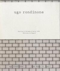 Ugo Rondinone : how does it feel ?; Ugo Rondinone : sunrise East