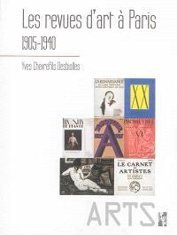 Les revues d'art à Paris, 1905-1940