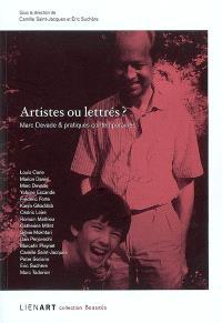 Artistes ou lettrés ? : Marc Devade & pratiques contemporaines