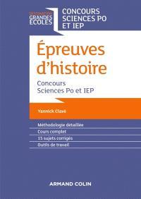 Epreuves d'histoire : concours Sciences Po et IEP