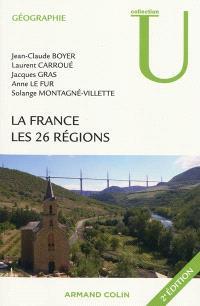 La France : les 26 régions