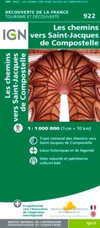 Les chemins vers Saint-Jacques de Compostelle