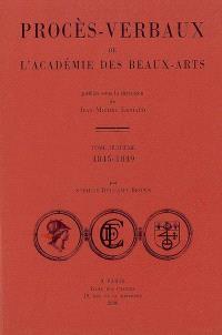 Procès-verbaux de l'Académie des beaux-arts. Volume 8, 1845-1849