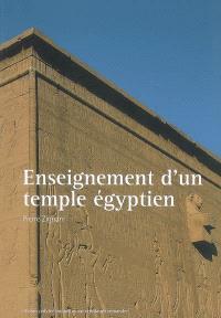 Enseignement d'un temple égyptien : conception architectonique du temple d'Hathor à Dendara