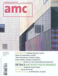 AMC, le moniteur architecture. n° 206, Détails : matières polychromes