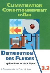 Climatisation, conditionnement d'air. Volume 3.2, Distribution des fluides : hydraulique et aéraulique