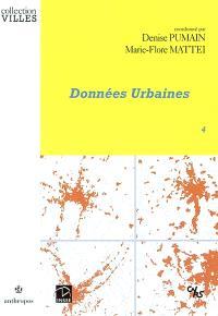 Données urbaines. Volume 4