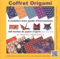 Coffret origami : 10 motifs abstraits : 4 modèles avec guide d'instructions