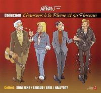 Brassens, Renaud, Brel, Hallyday : coffret