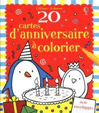 20 cartes d'anniversaire à colorier