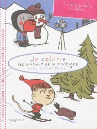 Je colorie les animaux de la montagne avec Léo et Mikki