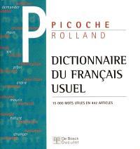 Dictionnaire du français usuel : 15.000 mots utiles en 442 articles