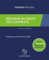 Réforme du droit des contrats : ordonnance du 10 février 2016
