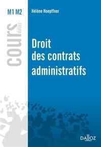 Droit des contrats administratifs : 2016