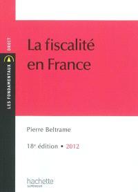 La fiscalité en France : 2012