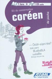 Kit de conversation coréen de poche