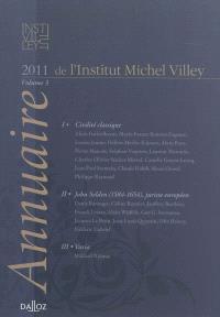 Annuaire de l'Institut Michel Villey. n° 3, Civilité classique; John Selden (1584-1654), juriste européen