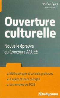 Ouverture culturelle : nouvelle épreuve du concours Accès