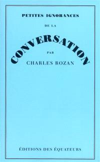 Petites ignorances de la conversation
